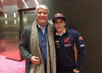FIM President Mr Jorge Viegas on Left with Marc Marquez MotoGP rider and world champion